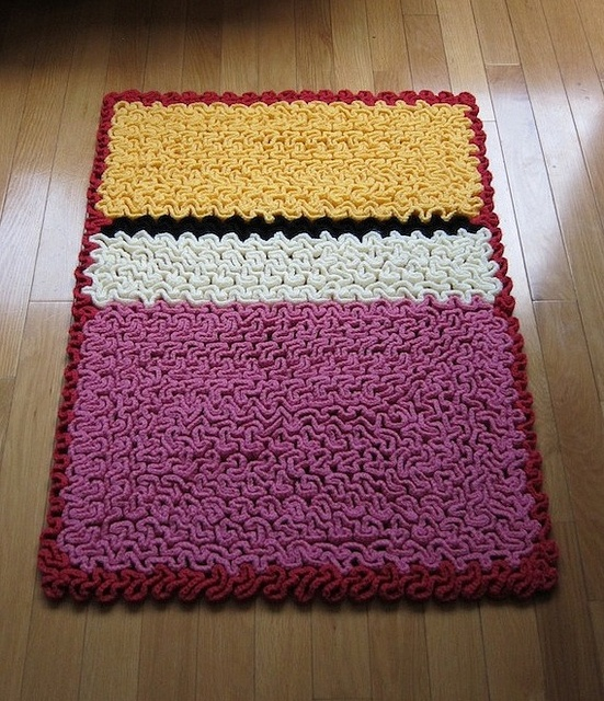 Wiggly Crochet Rothko Rug 01 By Karabouts, Via Flickr