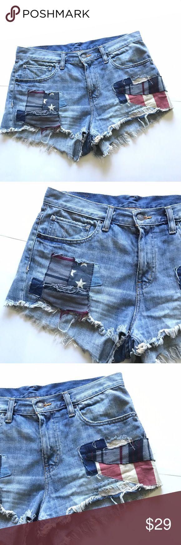 🔥BOGO🔥Patch Distressed Cutoff Jean Shorts 29 Denim & Supply Ralph Lauren  Patch Distressed Cutoff Jean Shorts 29 Denim & Supply Ralph Lauren Shorts Jean Shorts