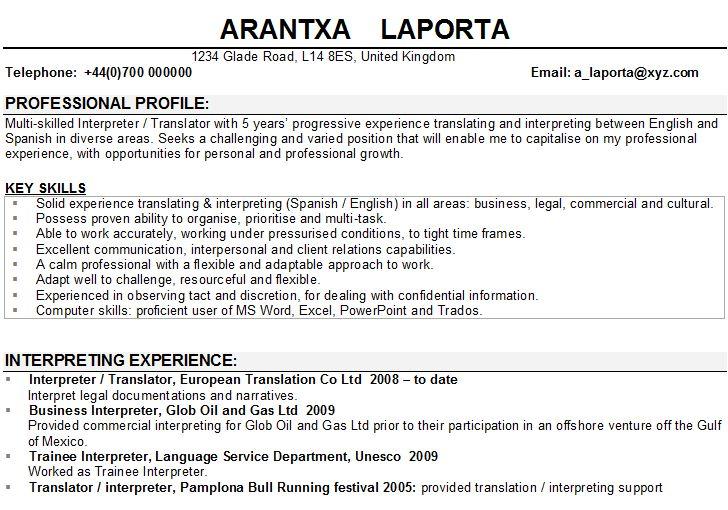 Sample Cover Letter For Interpreter Inside Medical Resume Www Within Resumeg
