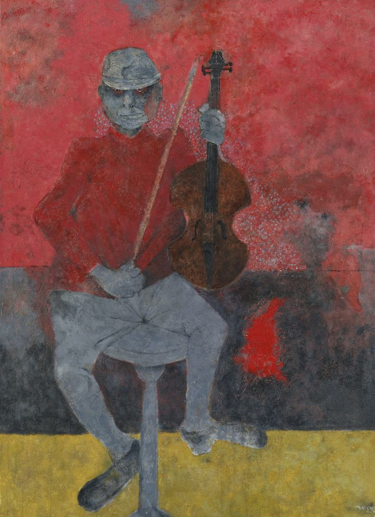 RUFINO TAMAYO (1899-1991) EL MUCHACHO DEL VIOLÓN signed and dated O-90 lower right oil on canvas 51 1/8 by 37 5/8 in. 130 by 95 cm Estimate ...