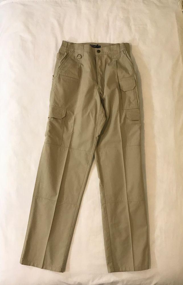 5.11 Tactical Series Mens Cargo Pants Khaki Tan Flex Waist Sz 30x33 Poly Cotton #511Tactical #Cargo