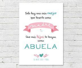 Lámina Personalizada Blanca Mamá Abuela