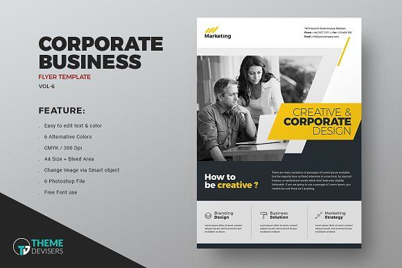 Corporate Flyer by ThemeDevisers on @creativemarket