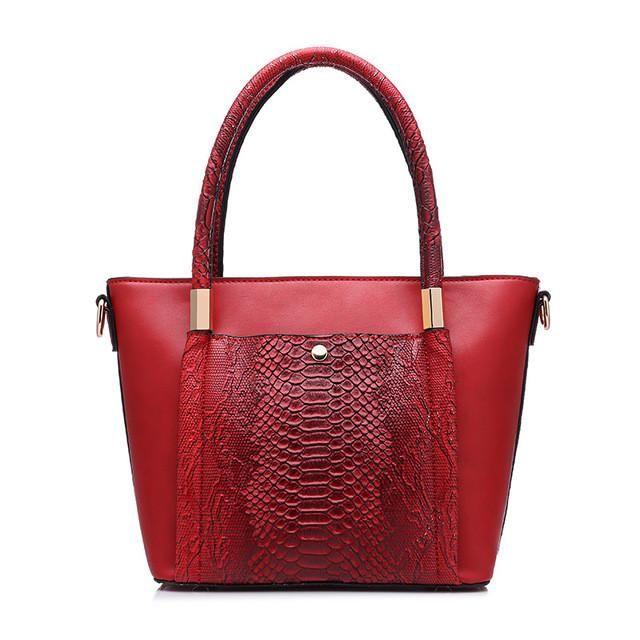 Zipper Serpentine Handbag