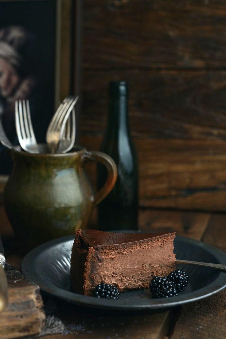 Dark Chocolate Cheesecake.