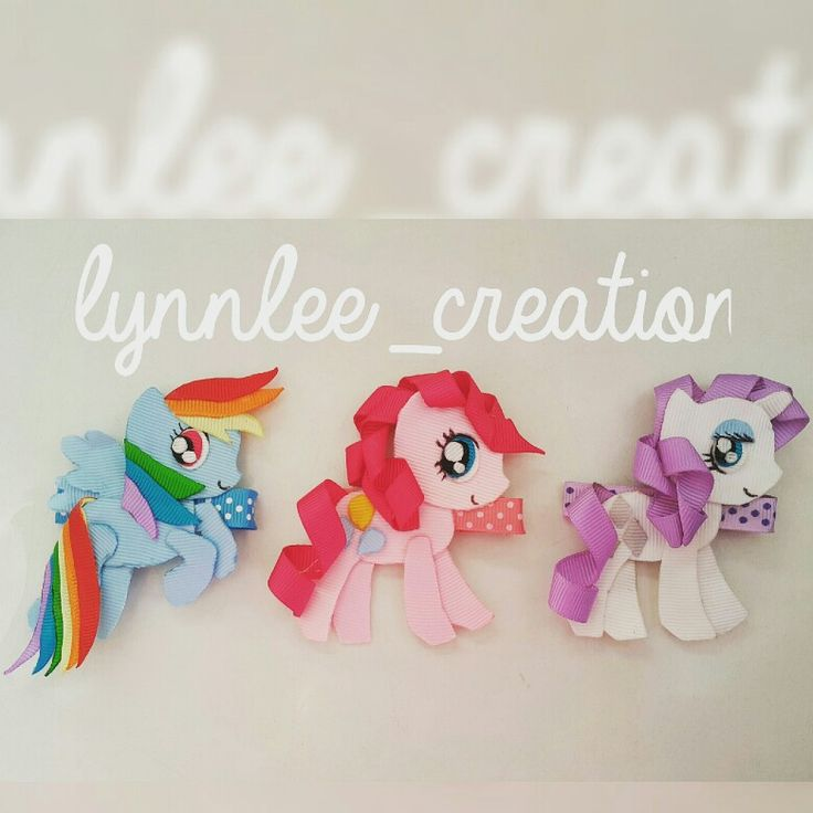 My  little  pony hairclip ribbon sculpture