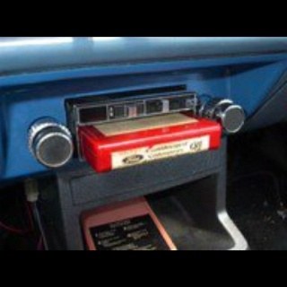 Ahhh, the 70's!!! 8 track tapes. kept it from wiggling with a book of matches