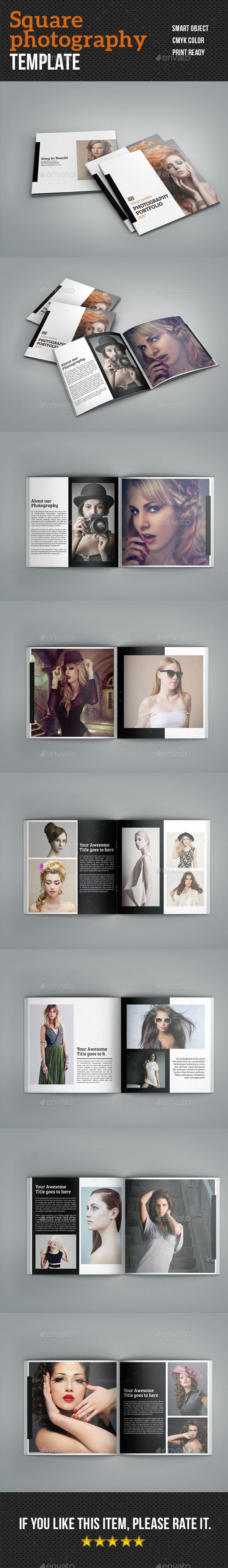 Square Photography Brochure - #Corporate #Brochures Download here: https://graphicriver.net/item/square-photography-brochure/19476520?ref=alena994