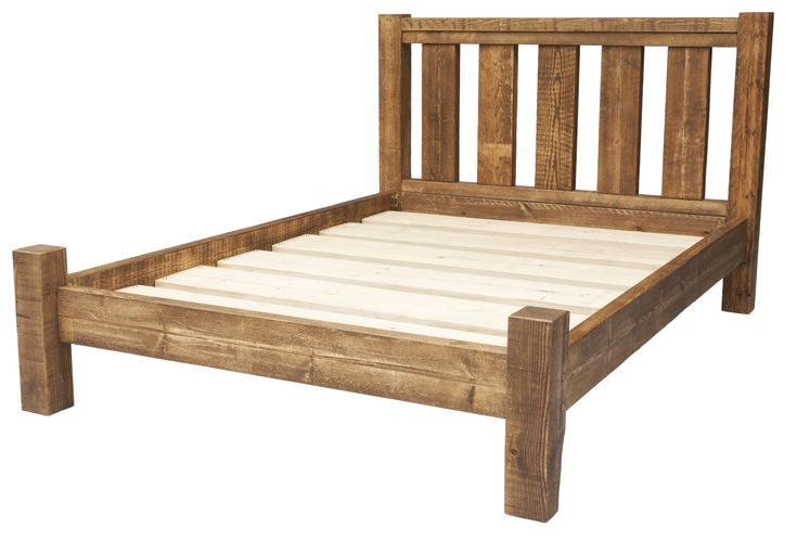 The number of slats on the headboard may vary depending on the size of the bed frame.   This small double bed frame has been expertly crafted from quality rustic solid wood. This stylish and sturdy bed is made to last, so why not get your head down on this chunky bed. Check it out on our website! http://www.funky-chunky-furniture.co.uk/small-double-bed-frame-2199-p.asp