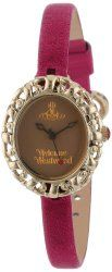 Vivienne Westwood Women's VV005SMBY Rococo Swiss Quartz Purple Leather Strap Watch