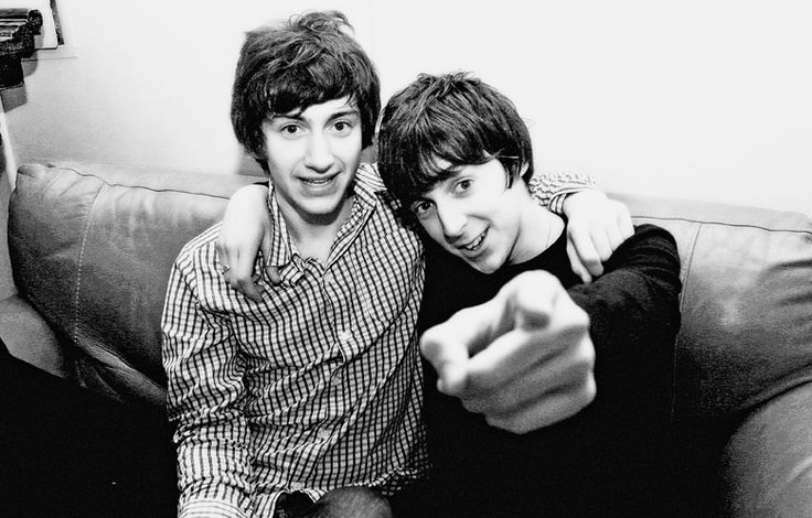 Young Alex Turner with Miles Kane
