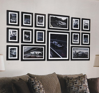 details about large 15 piece multi picture photo frame frames aperture 130 x 70cm wall set