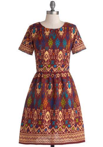 Naturalist Talent Dress in Rust, @ModCloth