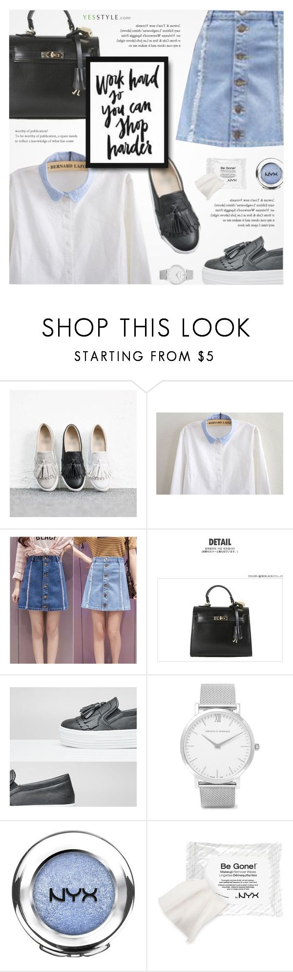 """""""YesStyle - 10% off coupon"""" by novalikarida ❤ liked on Polyvore featuring Larsson & Jennings, NYX, Charlotte Russe, Winter and yesstyle"""