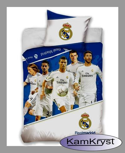 Bedding Real Madrid Team 160x200 | Pościel Real Madryt Team 160x200 #real_madrid #ronaldo