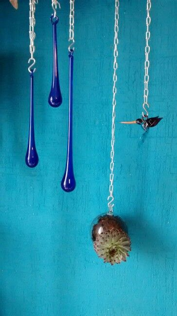Blowing glass drops