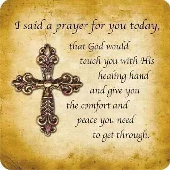 Healing Prayer For my friend who went thru surgery today for cancer!