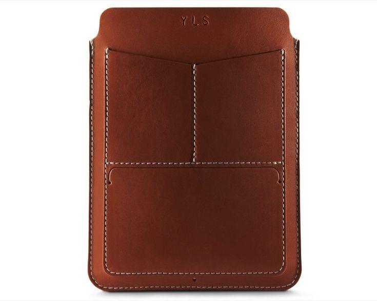 Leather Passport Case - Blue scrolls on khaki by VIDA VIDA k9LFu