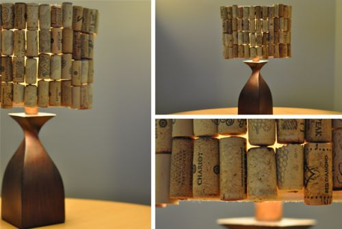 7 DIY Creative Recycled Lamps Here's an idea Larysa... I like it works for me!