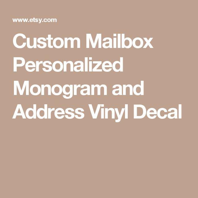 Custom Mailbox Personalized Monogram and Address Vinyl Decal