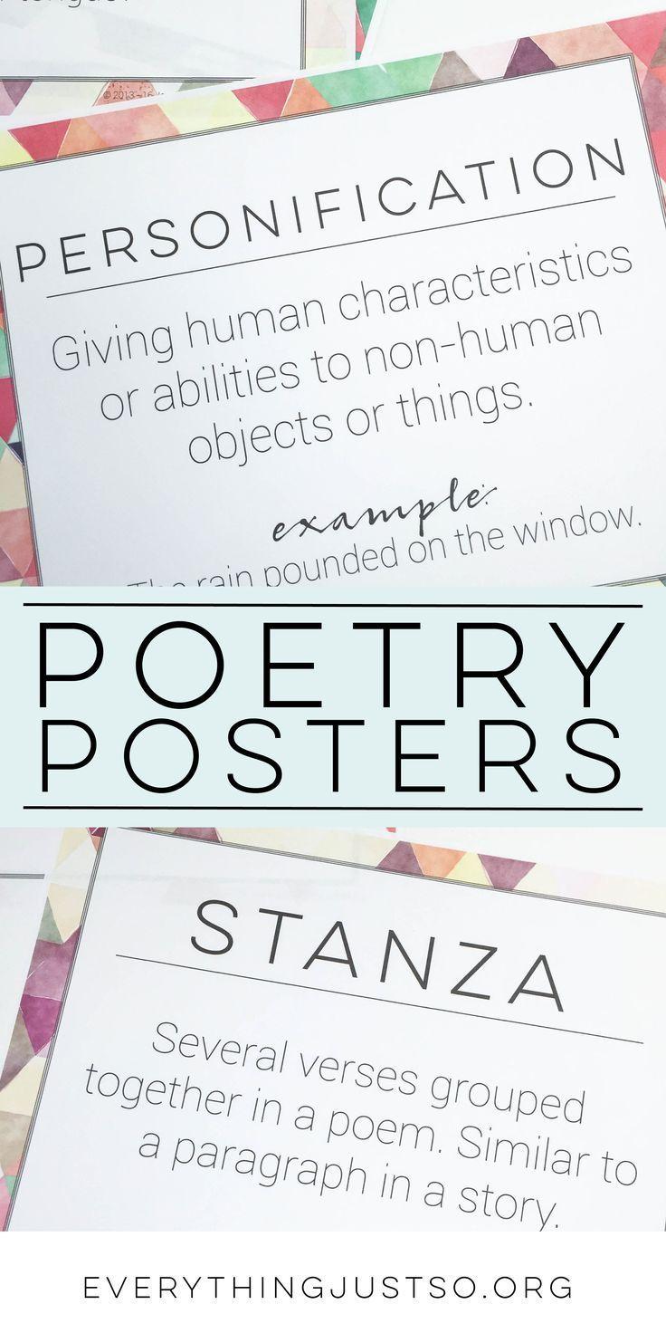 97 mejores imágenes de language arts poetry en Pinterest ...