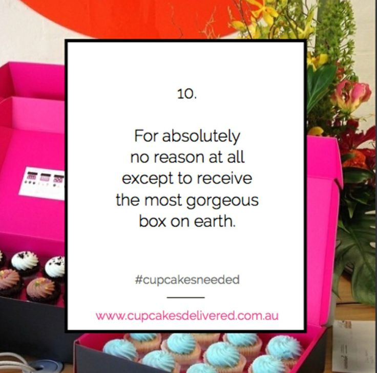 Reason # 10. For absolutely no reason at all except to receive the most gorgeous box on earth. #cupcakesneeded #gorgeous #cupcakes #lucky #delivery #onlineshopping #gift #present www.cupcakesdelivered.com.au