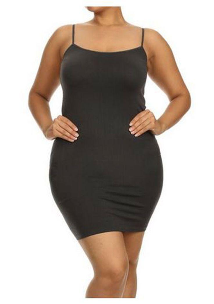 Plus size cami slip dress