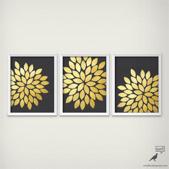 Black And Gold Wall Art 55 best digital gold foil wall decor images on pinterest | gold