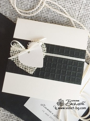 #black and #ivory wedding #Invitation from www.violet-bg.com