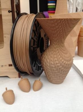 "colorFabb introduces its new WoodFill  1.75mm & 3mm wood filament which, according to the company, ""It looks like wood, it feels like wood and it even smells like wood""."