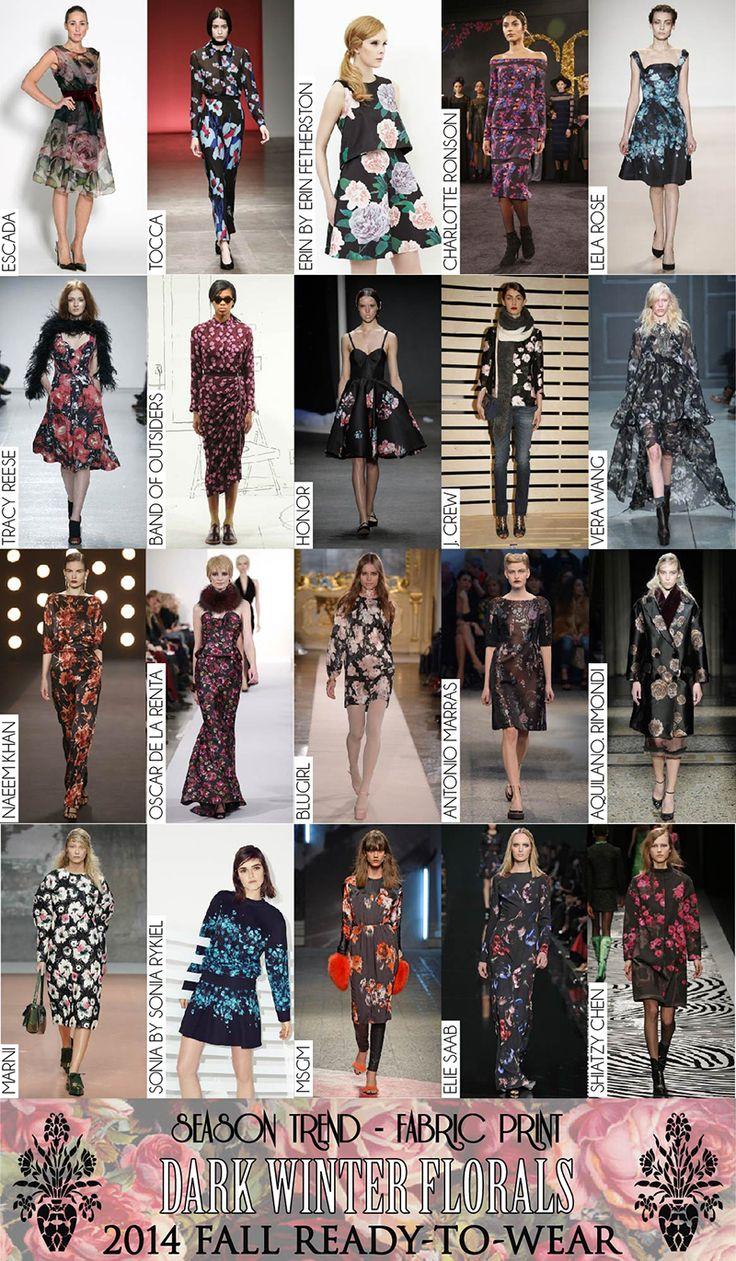 2014 Fall RTW Fabric Prints Dark Winter Florals