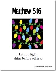 Matthew 5:16 memory verse helps and devotional