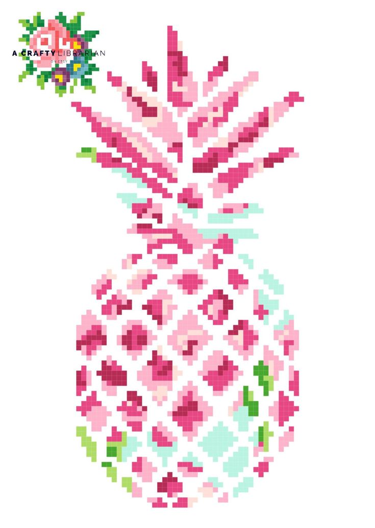 Lilly Pineapple. Modern Cross Stitch Pattern. by acraftylibrarian on Etsy