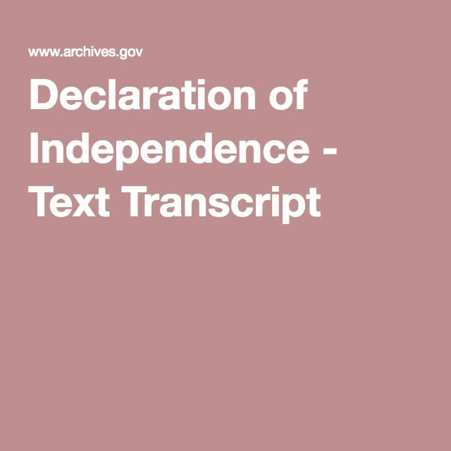 the significance of the declaration of independence and the idea of the american dream The text of the i have a dream speech given by martin luther king in 1963  words of the constitution and the declaration of independence, they were signing a .