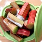 Rhubarb | How to grow, choose, store, and prepare the tart seasonal fruit. Delicious paired with strawberries. Most popular in desserts, it can also be turned into jams, jellies, and salsas. How do you like to prepare rhubarb?