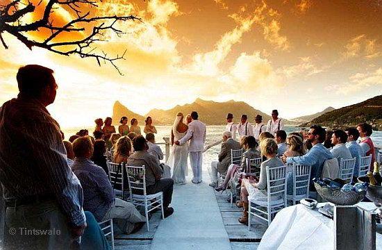 A beach wedding venue with goose pimple effect! http://www.cape-town-guide.com/beach-wedding-venues-cape-town.html