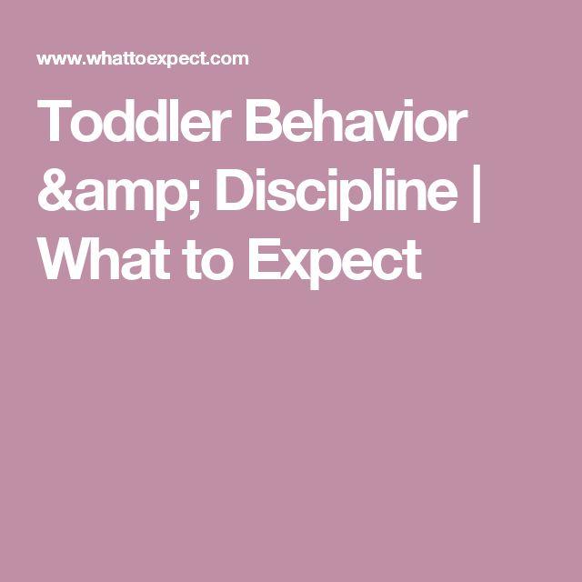 Toddler Behavior & Discipline   What to Expect