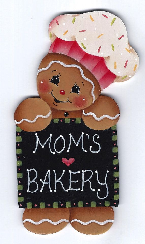 Moms Bakery Gingerbread Painting E-Pattern by GingerbreadCuties