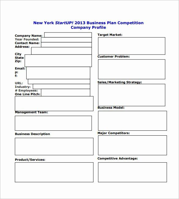 30 Printable Business Plan Template In 2020 Business Plan