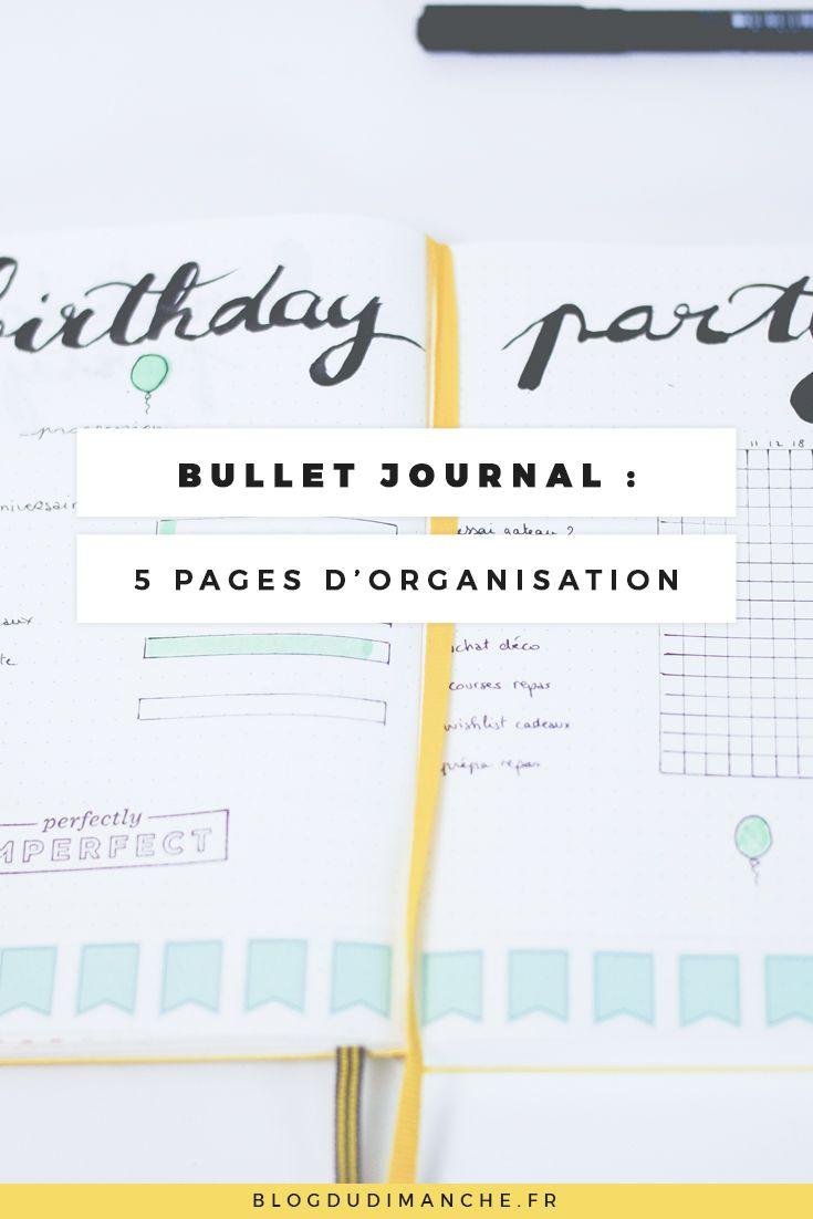 Si vous cherchez des idées de pages pour organiser votre quotidien, ce billet pourrait vous aider !