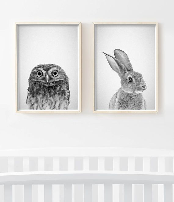 Baby Animal Prints, Nursery Decor, Nursery Printables, Nursery Art Prints, Nursery Wall Art. Printable Art by Little Ink Empire