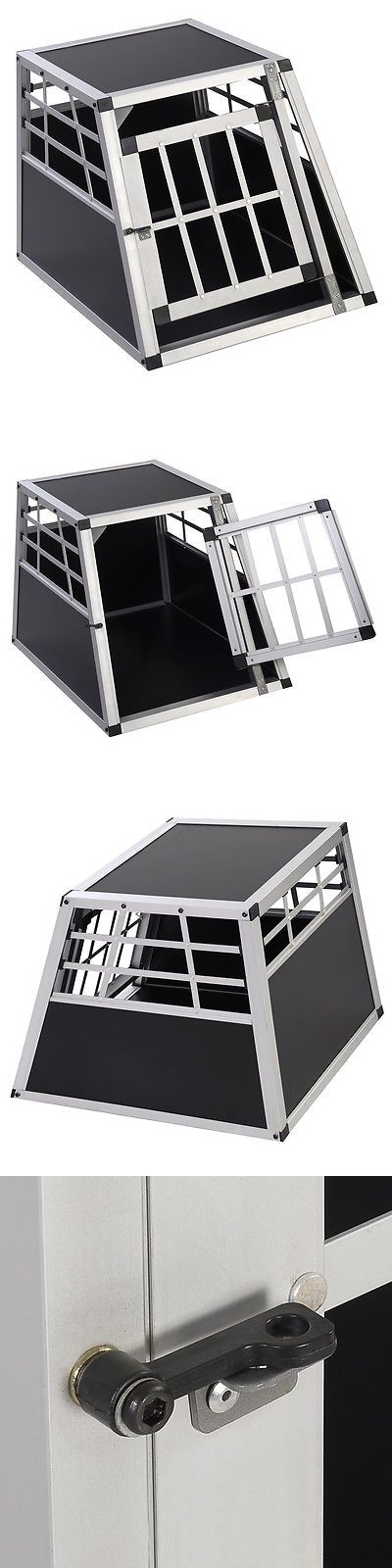 Cages and Crates 121851: Goplus Aluminum Dog Transport Box Dog Crate Kennel Pet Playpen Cage W/Lock 28H BUY IT NOW ONLY: $64.99