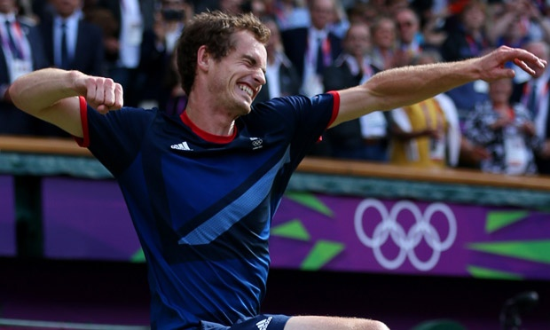 Yay Andy!!! Andy Murray celebrates