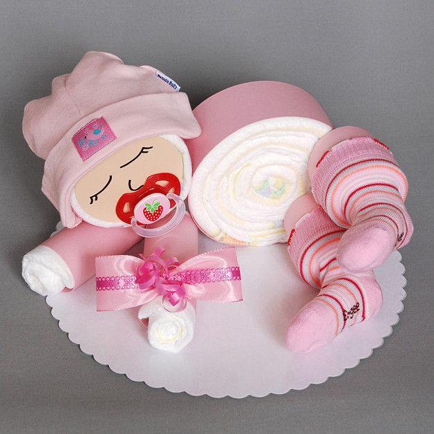 Süßes Windelbaby in Rosa – 12 Windeln der Marke Pampers Premium Protection Neu …  – bsteln