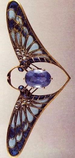 Falize sapphire butterfly  Art Nouveau