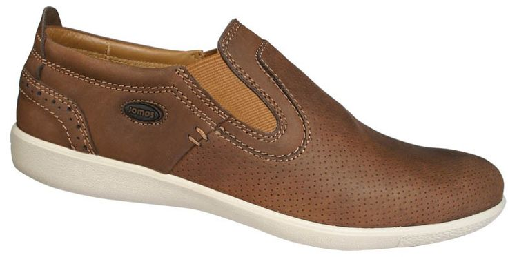 Men slipper shoes in tan color. Leather moccasins with contoured tread internally, elastic band for a comfortable fit and elastic outsole. Casual look and comfort large sizes in Jomos. http://www.bigshoes.gr/mens-shoes/moccasins/312206-12-322.html