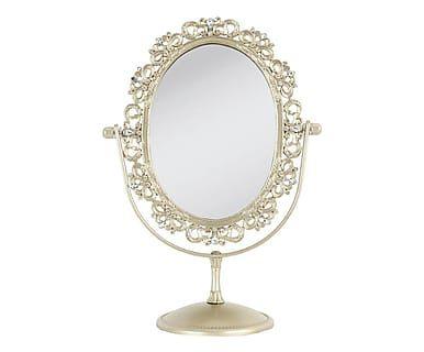 Specchio da tavolo in metallo Princess, 20x11x27 cm