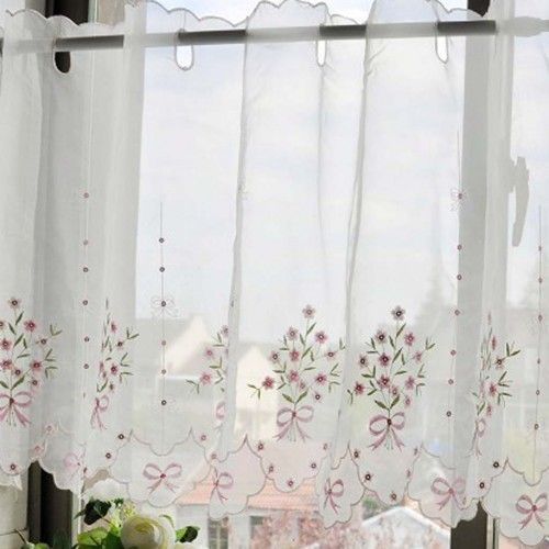 79 Best Images About Cortina On Pinterest Curtain Valances Lace Curtains And Blue And White