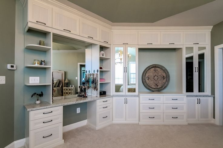 This wall unit was designed with the bedroom in mind, expanding the entire wall