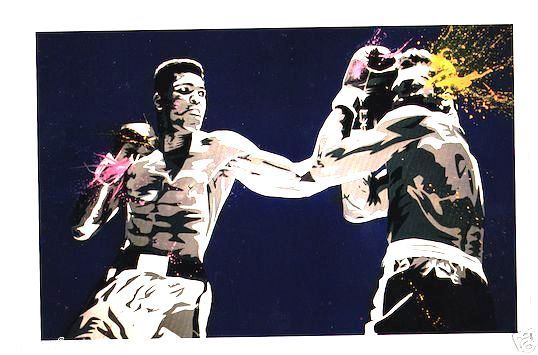 Mr Brainwash *Muhammad Ali Legend* Boxing Promo joe frazier cassius clay banksy #PopArt
